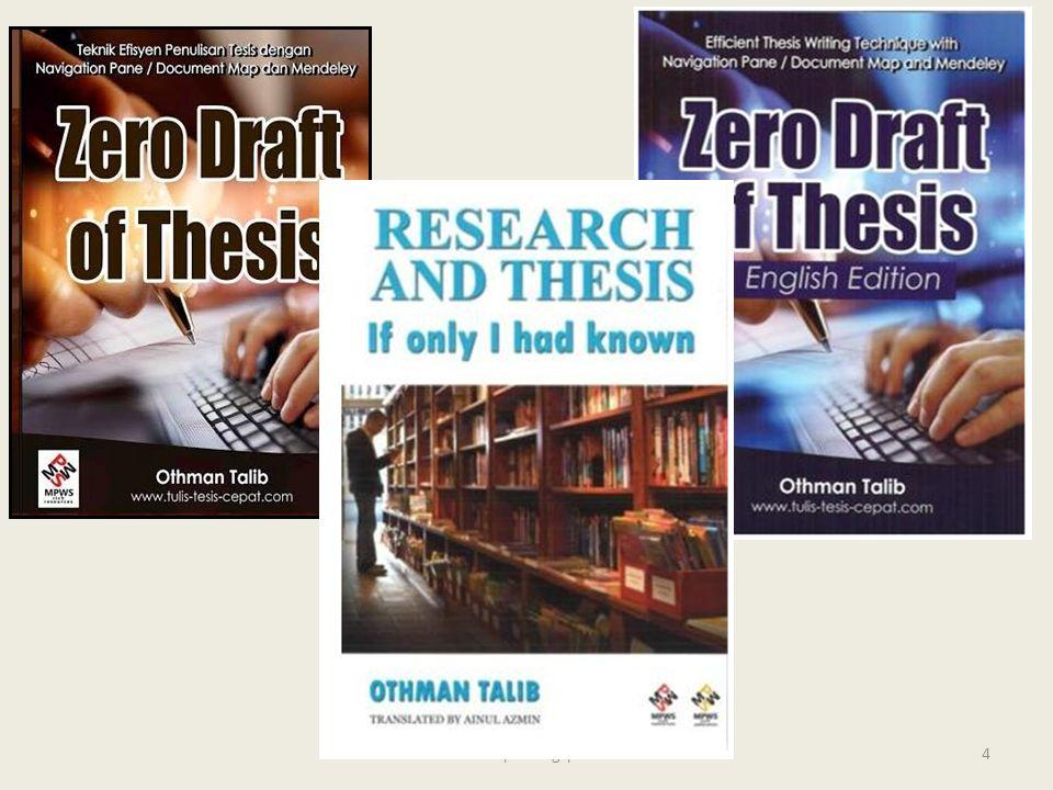 zero draft of thesis othman talib