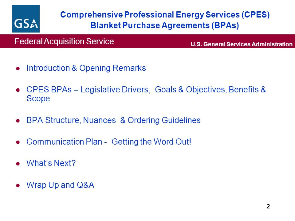 Federal Acquisition Service Us General Services Administration