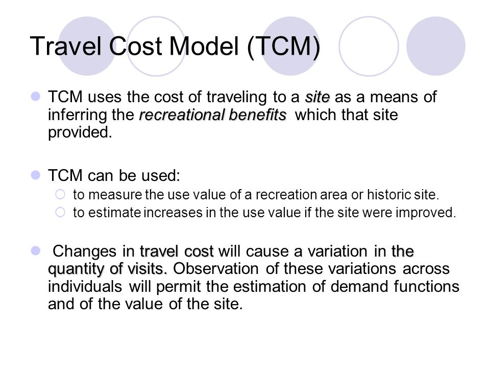 travel cost model an example sittidaj pongkivorasin faculty of