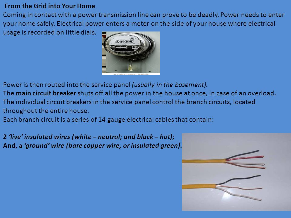 Topic 7 - Electricity in the Home Transmission of Electricity Power ...