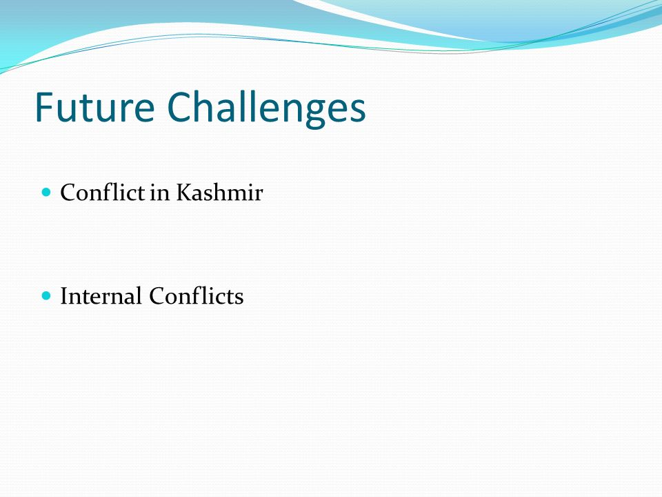 Future Challenges Conflict in Kashmir Internal Conflicts