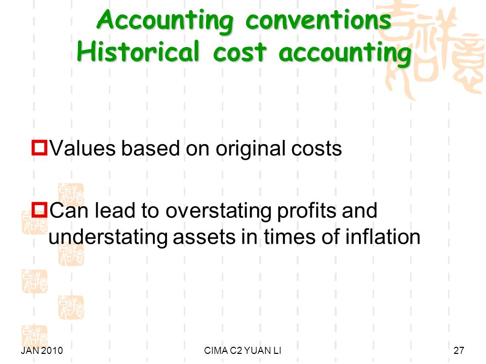 what is historical cost convention