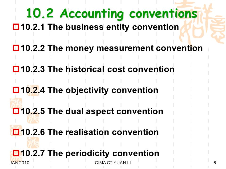 historical cost convention accounting