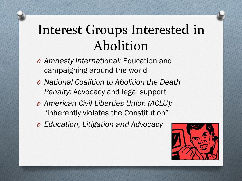 interest groups against death penalty