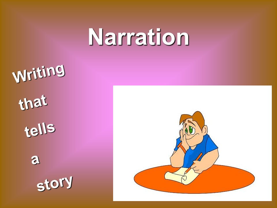 Narration Writingthattellsastory