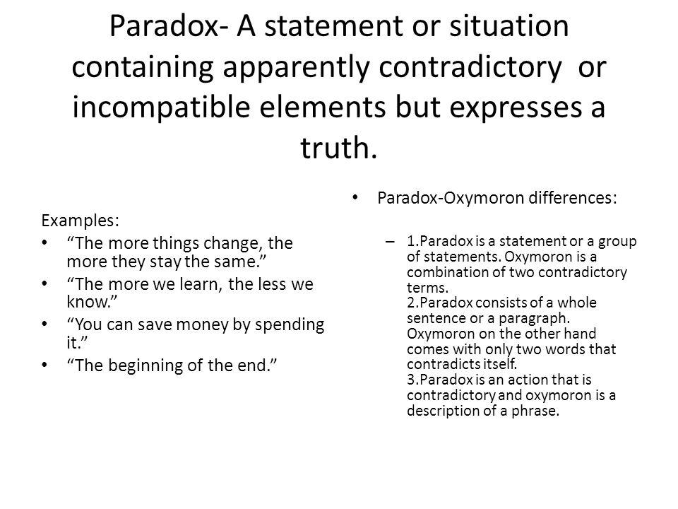 paradox paragraph