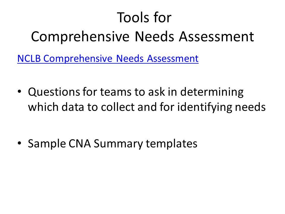Comprehensive Needs Essment Template   Comprehensive Needs Assessment Cna Schoolwide Programs Ppt Download