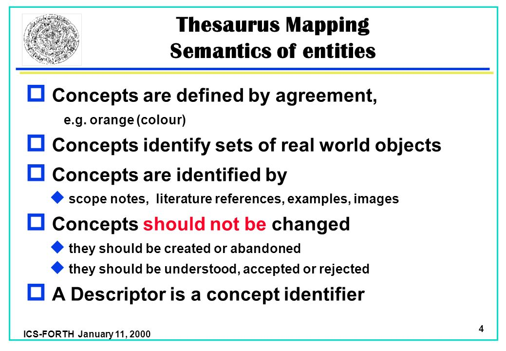 Ics Forth January 11 Thesaurus Mapping Martin Doerr Foundation For