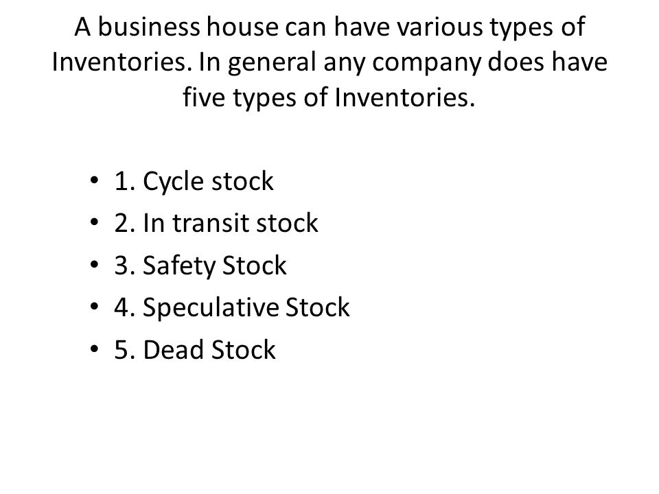 Inventory Planning and Management Chapter 5  Inventories include all