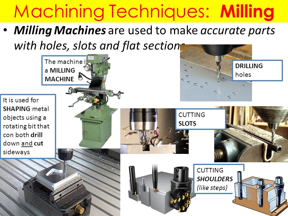 Machining Techniques Turning Milling Drilling Forming Techniques Die