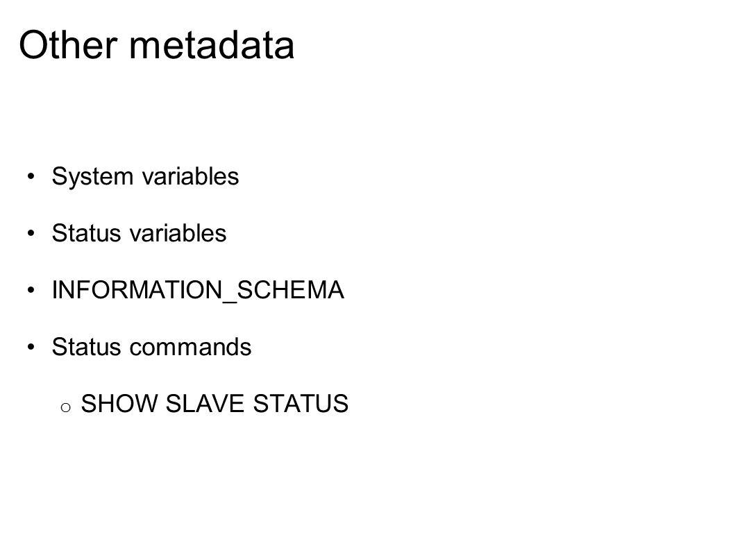 repair information_schema
