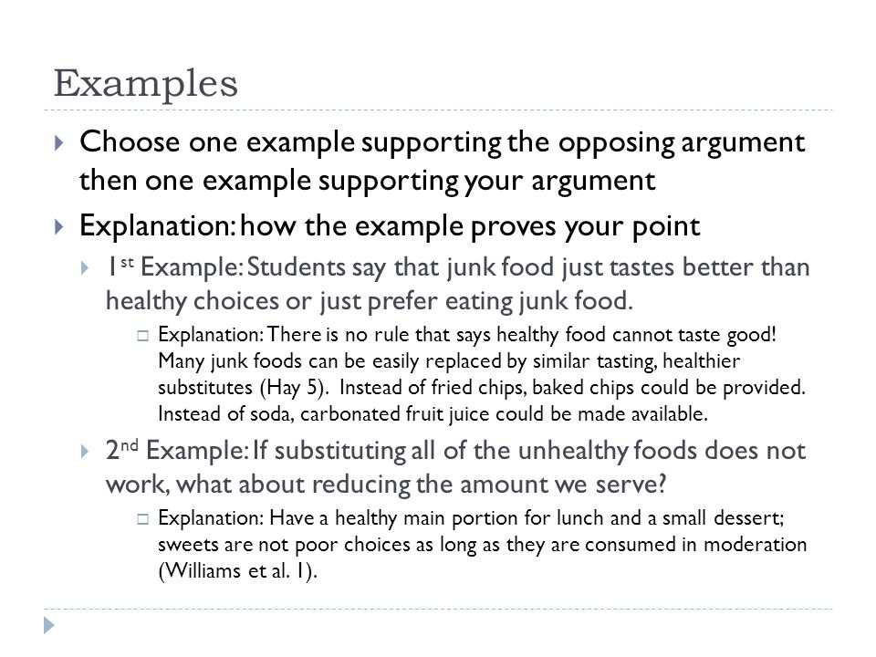 opposing argument example