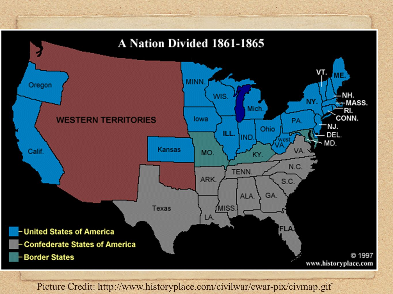 The American Civil War Begins I will be picking up ...