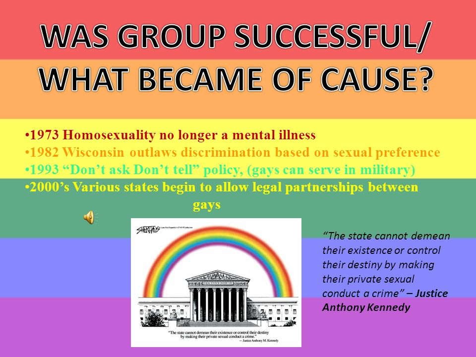 Homosexuality no longer an illness