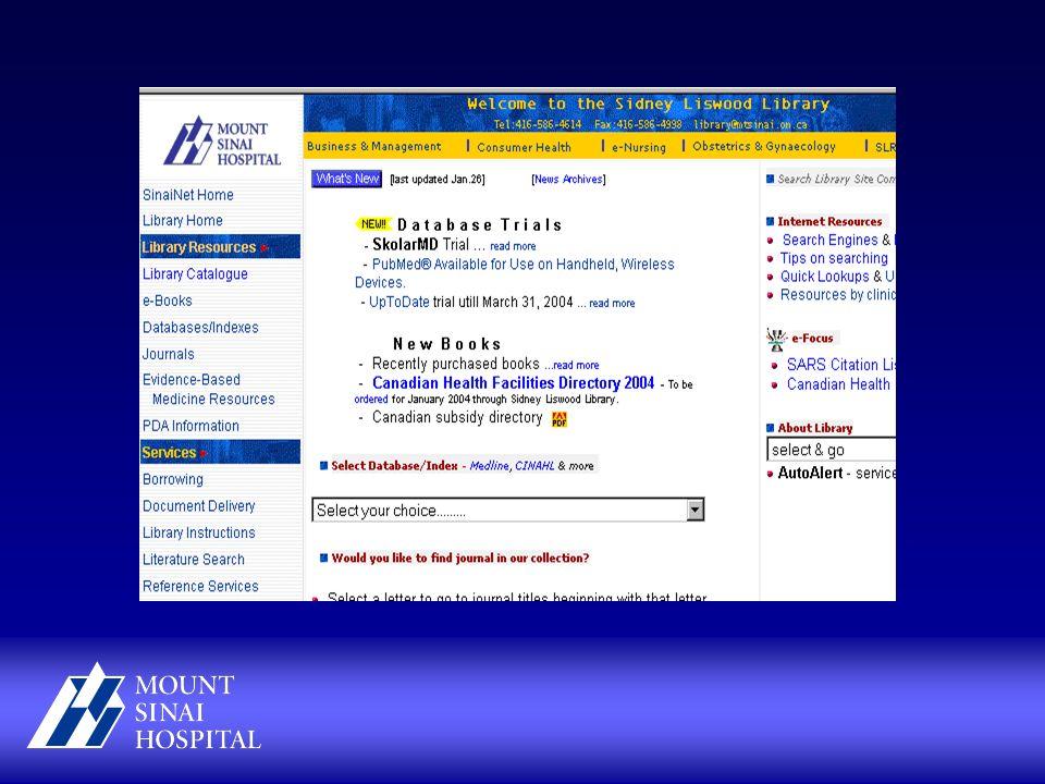 Mount Sinai Hospital, Toronto Mount Sinai Hospital is a