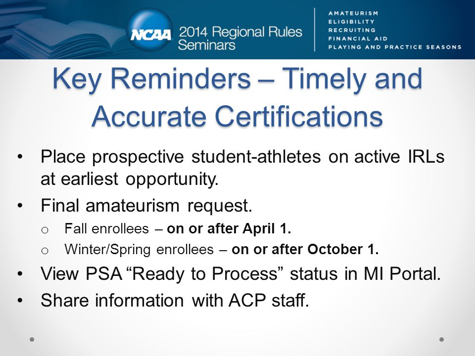 Amateurism Certification Process Acp Staff May 21 Ppt Download