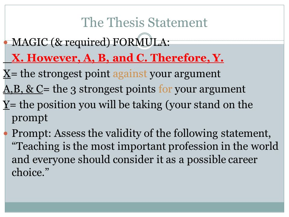 Leq Thesis Formula - Thesis Title Ideas For College