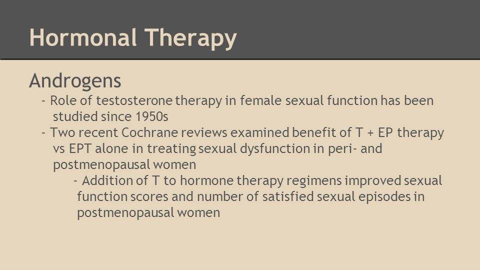 Female sexual dysfunction treatment