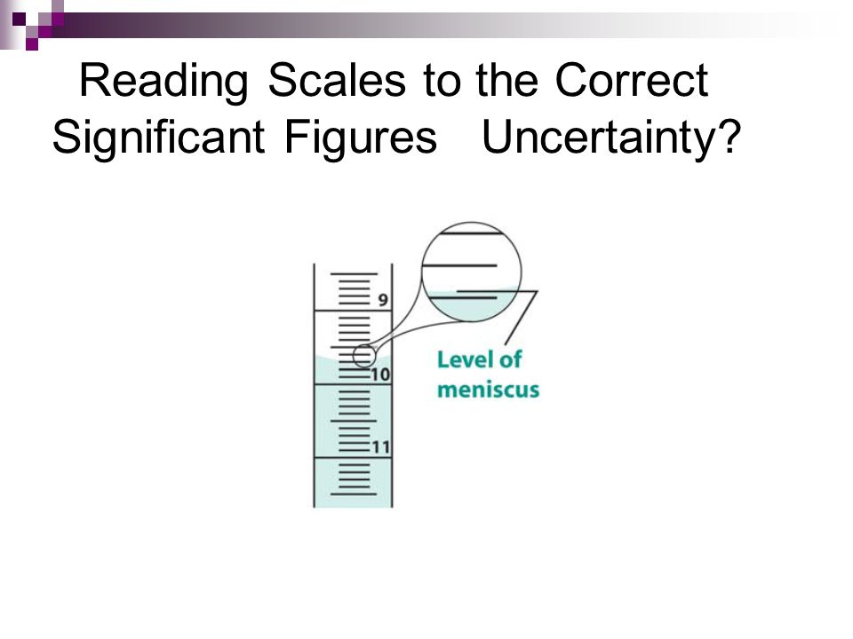Reading Scales to the Correct Significant Figures Uncertainty