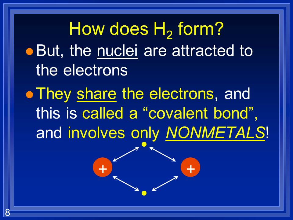 8 How does H 2 form.