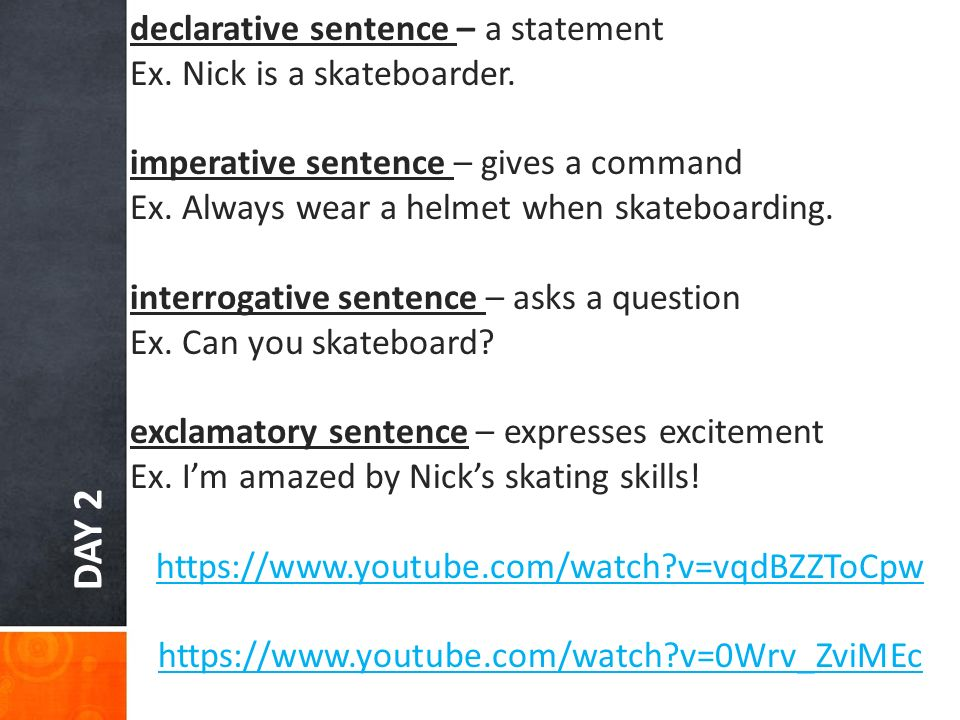 interrogative and exclamatory sentences
