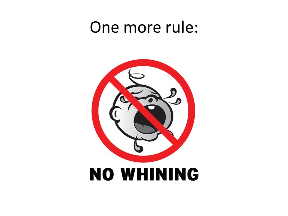 One more rule: