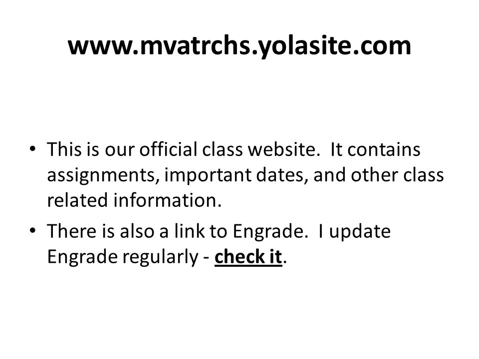 This is our official class website.