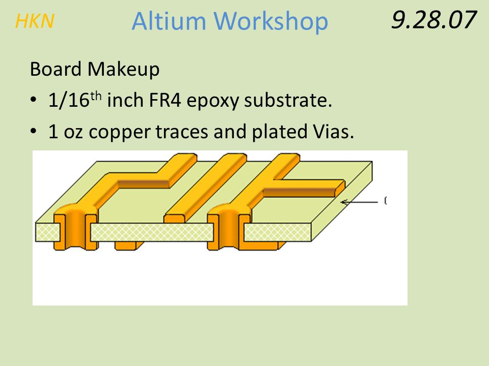 HKN Altium Workshop Basic Altium Workshop Friday, September 28th