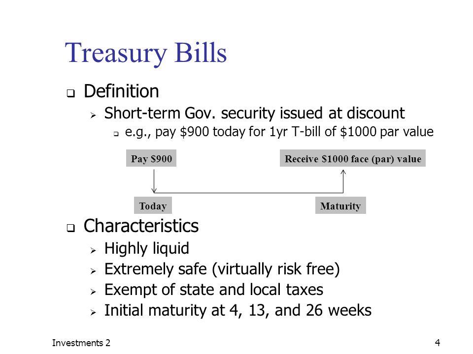 Treasury bills maturity
