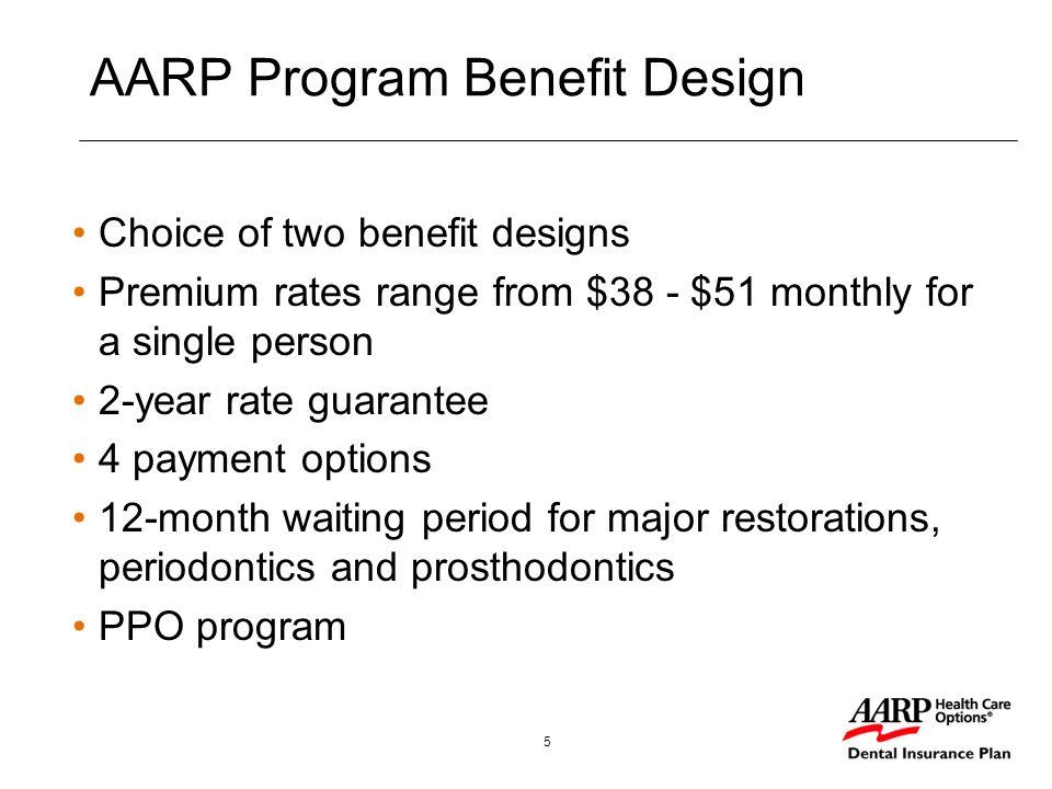 1 AARP Dental Insurance Plan Serving the individual dental