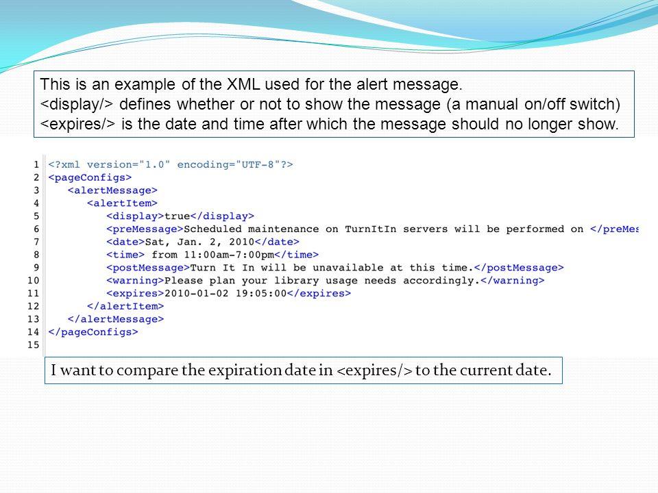 Current Date In Xml