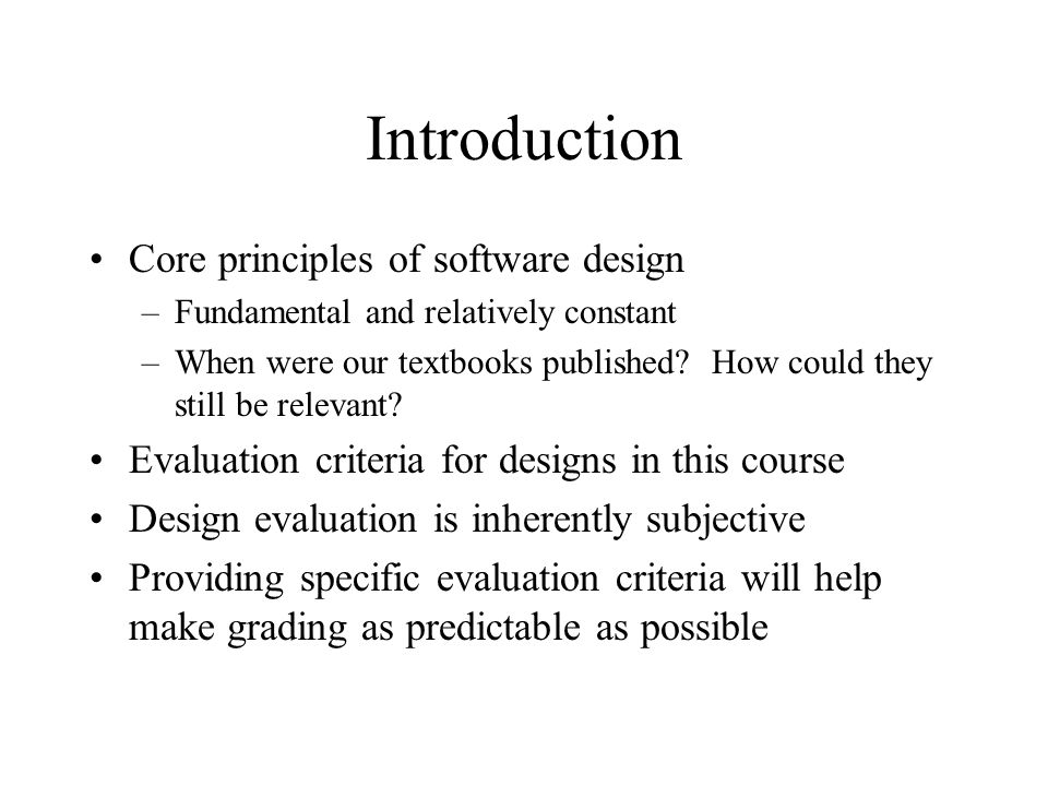 Computer Science 340 Software Design Testing Design Principles Review Ppt Download