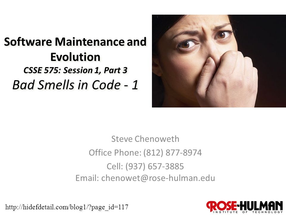 1 software maintenance and evolution csse 575 session 1  ?page_id=117 #3