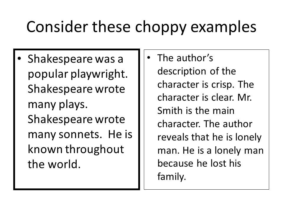 choppy sentences sentence s choppy sentences small sentences in