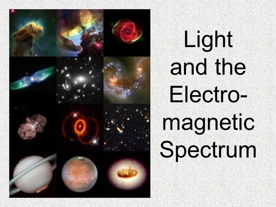 Light and the Electro- magnetic Spectrum