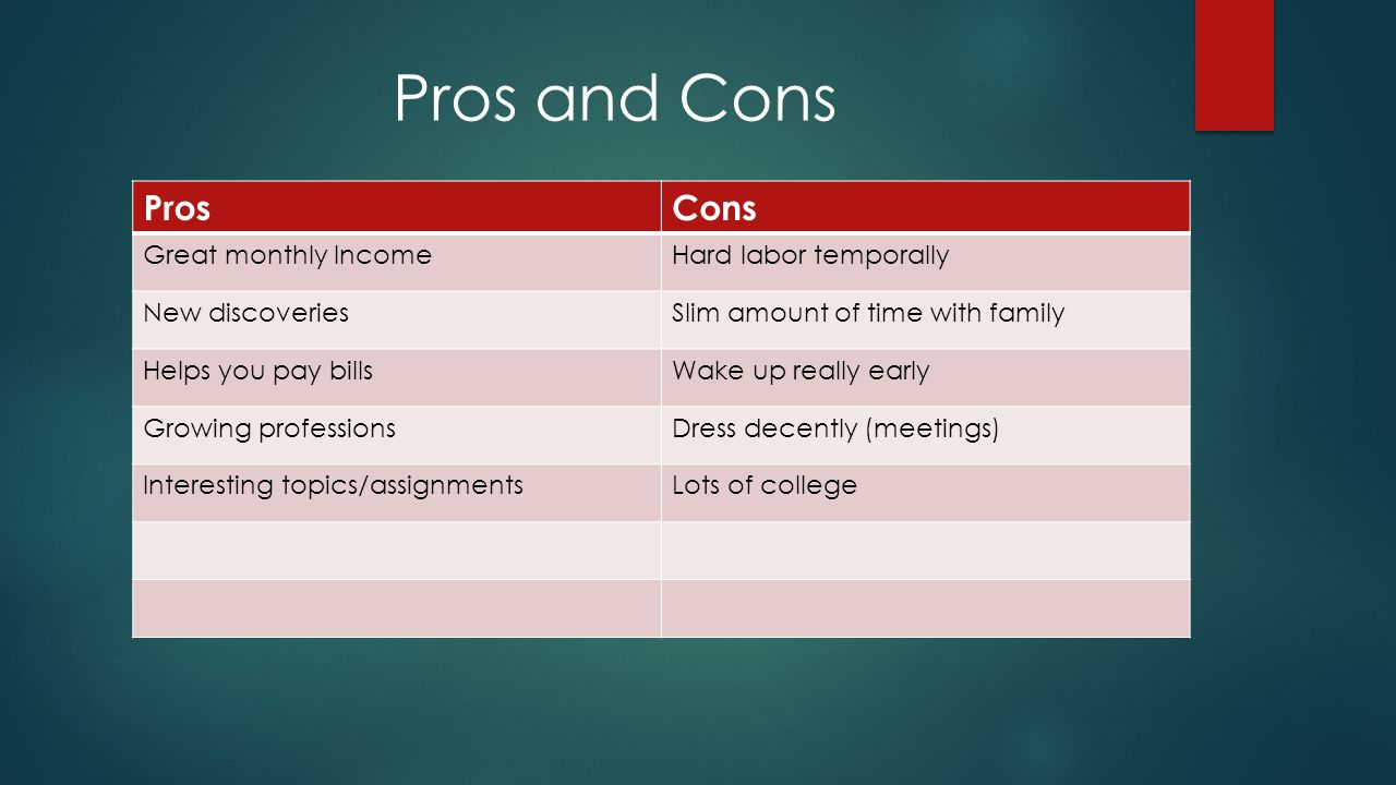pros and cons of being a kid