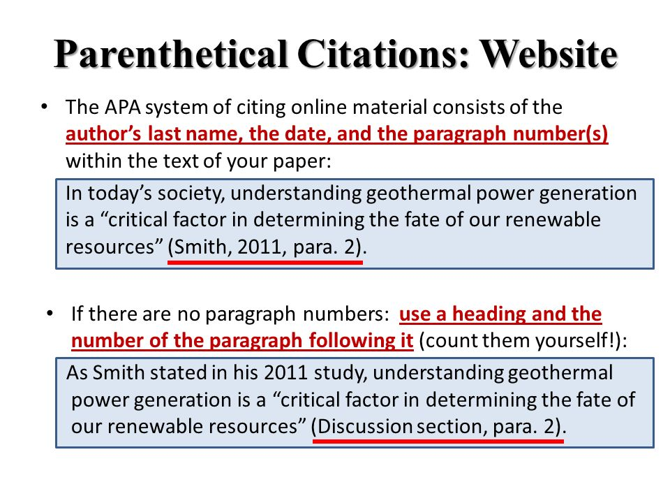 Citing a website in an essay apa resistance of a wire coursework conclusion