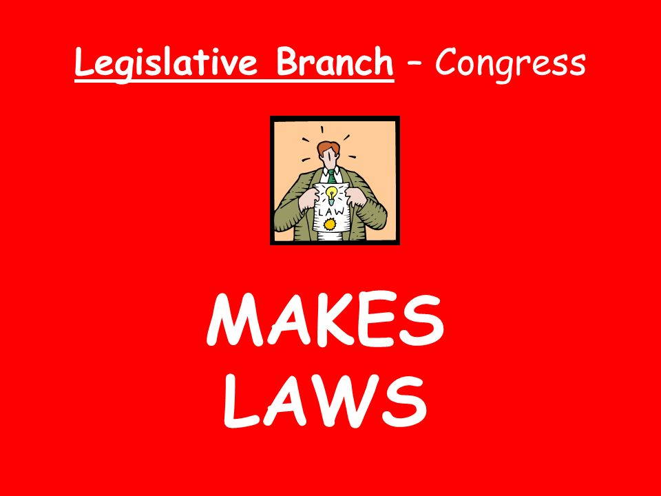 SUMMARY OF BRANCHES Supreme Court - reviews laws Senate and House of Reps- make laws President - makes laws into reality