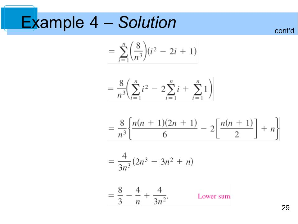 29 Example 4 – Solution cont'd