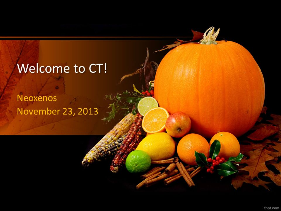 Welcome to CT! Neoxenos November 23, 2013