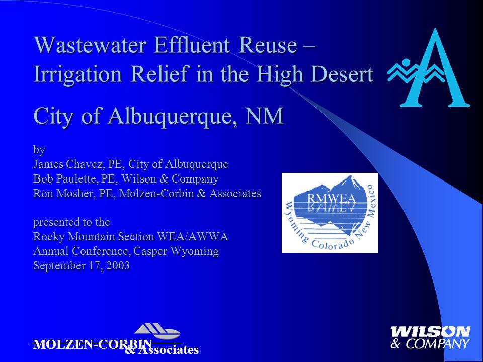 Wastewater Effluent Reuse Irrigation Relief In The High Desert