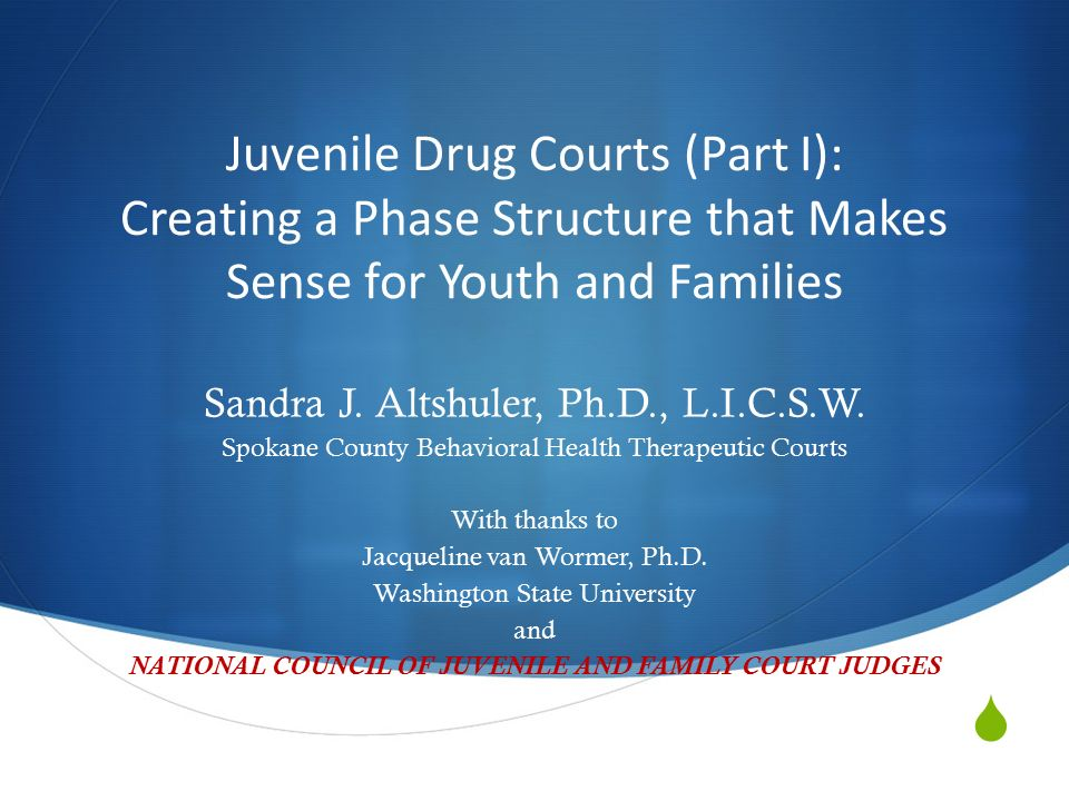 Juvenile Drug Courts Part I Creating A Phase Structure That Makes