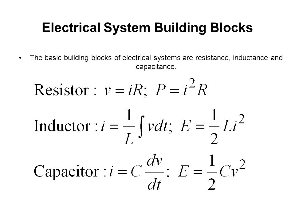 System Models Mathematical Models Mechanical System Building Blocks ...