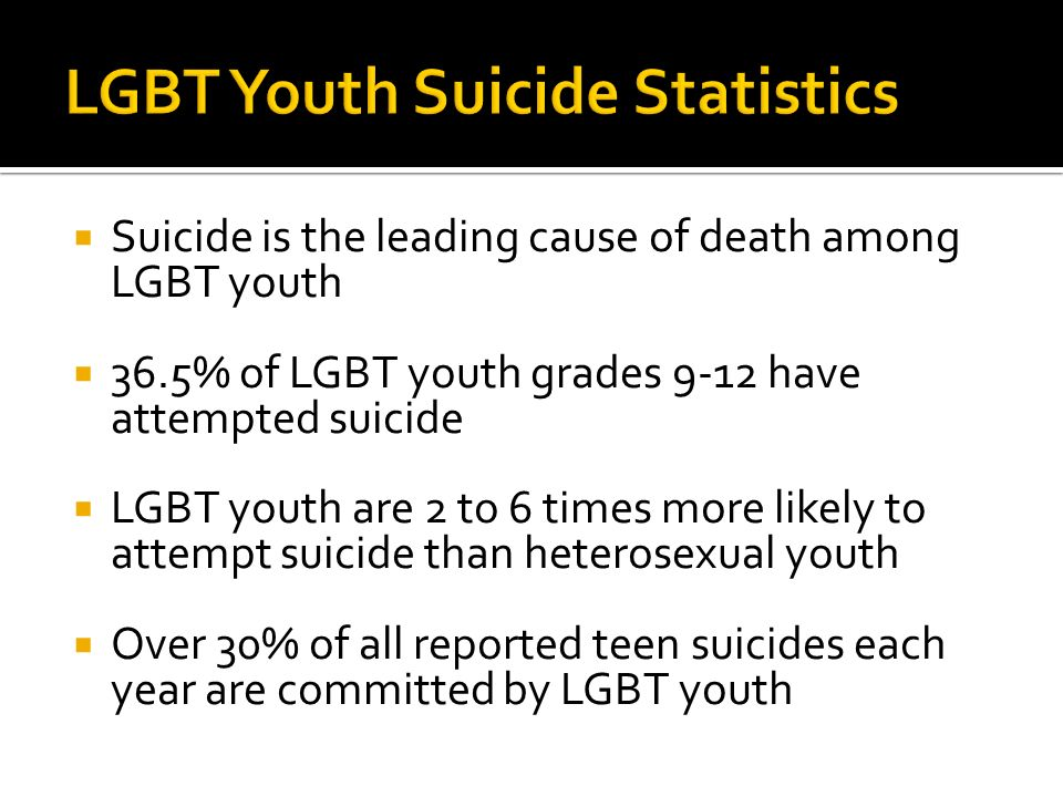 Leading causes of homosexuality statistics