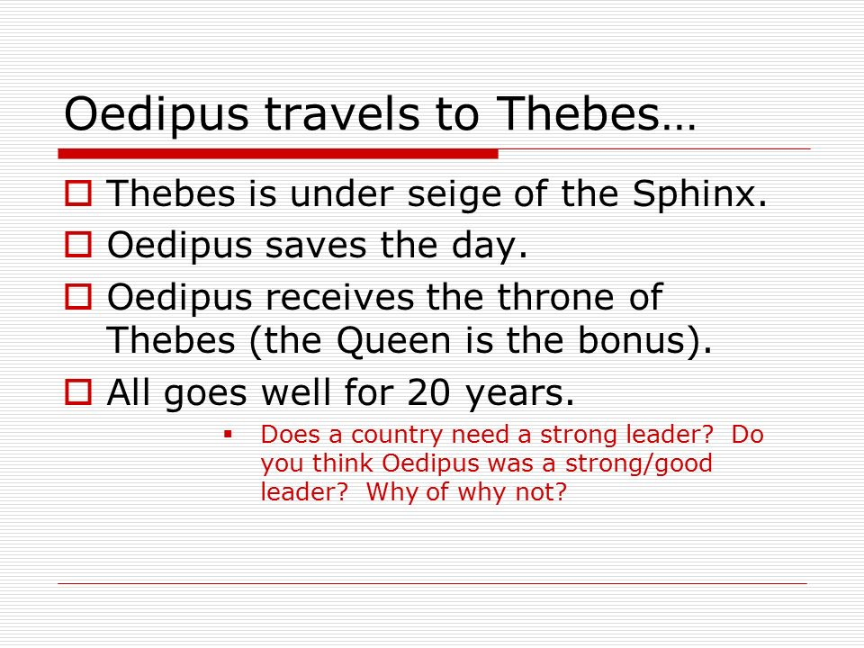 is oedipus a good leader
