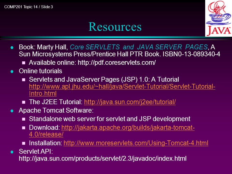 COMP201 Java Programming Part III: Advanced Features Topic