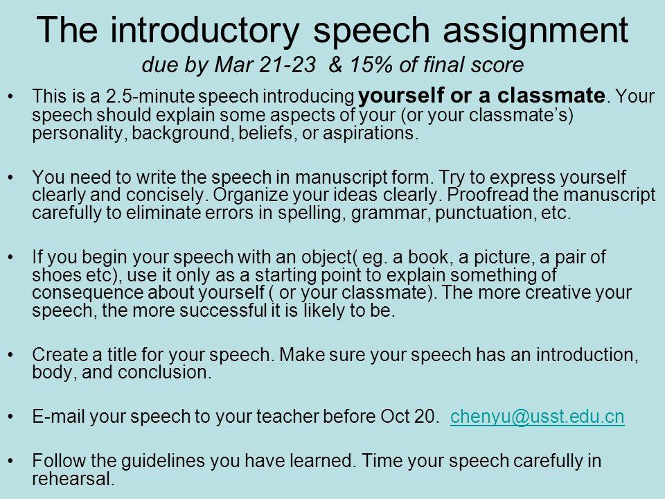 speech title ideas