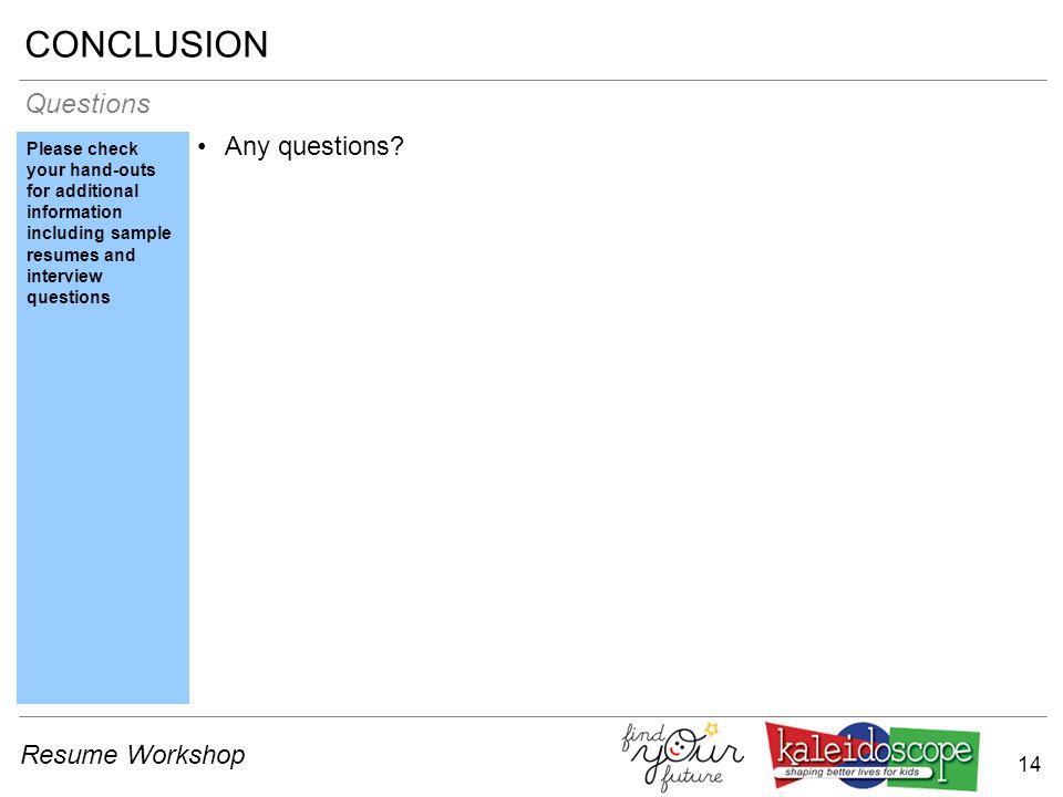 1 resume workshop 2 resume workshop introduction introduction