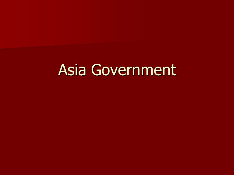 Asia Government