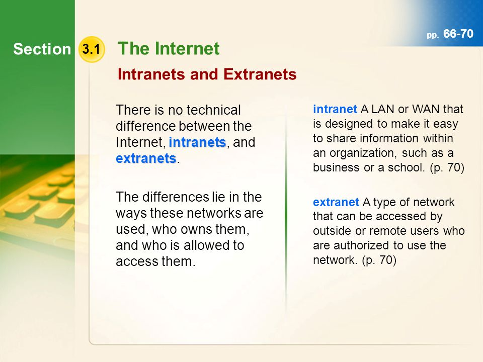 internet intranet extranet difference